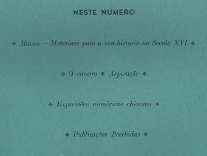 MOSAICO VOL XI n.º 59 a 61 ÍNDICE