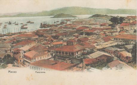Bilhetes Postais Antigos Macao Panorama c 1890
