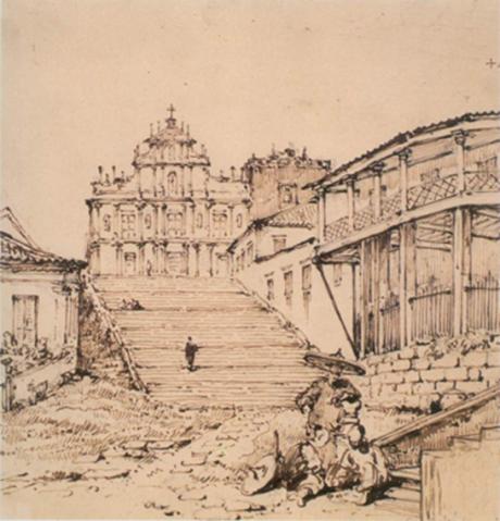 CHINNERY Ruínas S. Paulo 1834