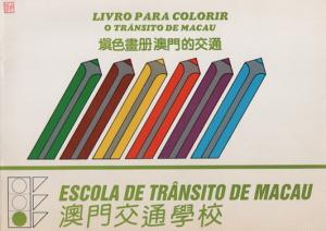 FOLHETO - Escola Trânsito Macau Vivro para colorir