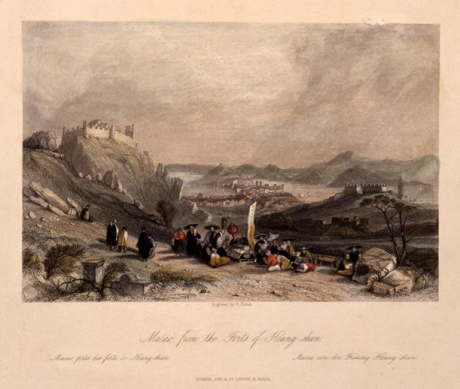 Macau from the Forts of Heang-shan 1839-42