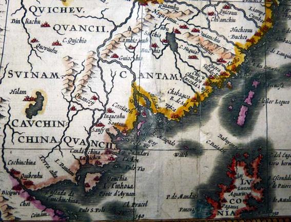 Macau 1626 Mapa de John Speed