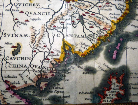 Macau 1626 Mapa de John Speed