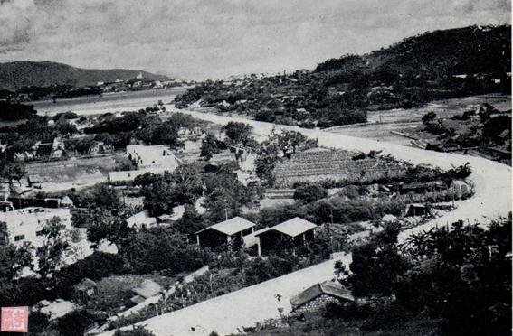 Postal c. 1965 Aldeia em Coloane