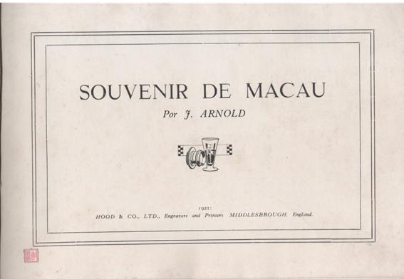 Souvenir de Macau 1910 1.ª página