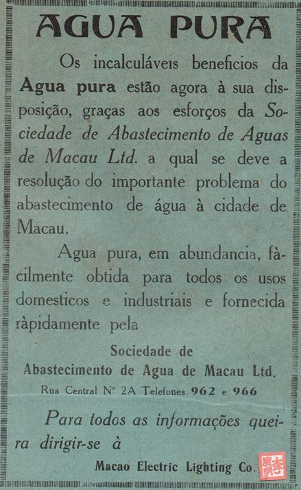 Anúncio SAAM 1938 português