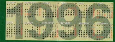 Calendário 1996 IPM verso