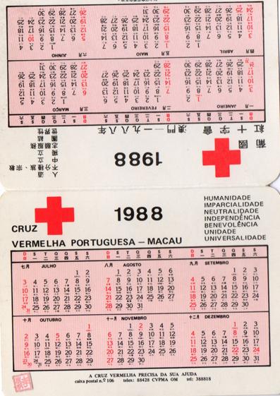 Cruz Vermelha Portuguesa 1988