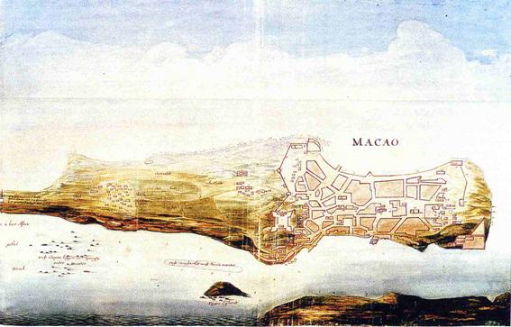 Mapa Macau 1665