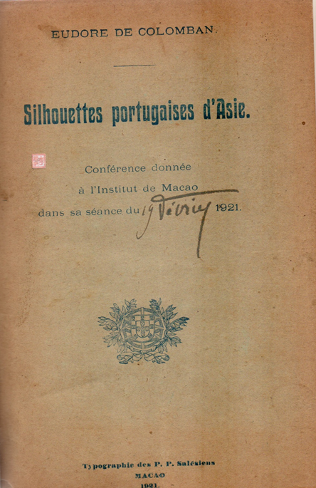 Silhouettes D´Asie Eudore Colomban 1921 CAPA