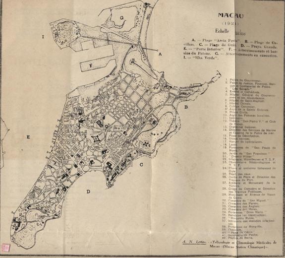 Tellurologie e Climatologie MAPA Macau 1921