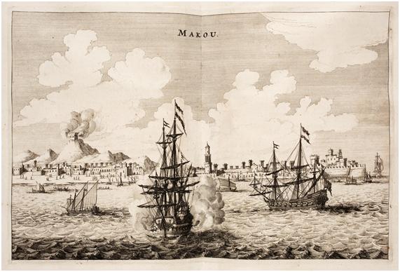 Armada Holandeza por Johan Nieuhof 1665