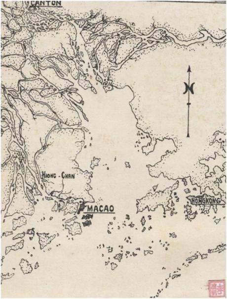 MAPA delta do Si Kiang 1921 Tellurologie et Climatologie