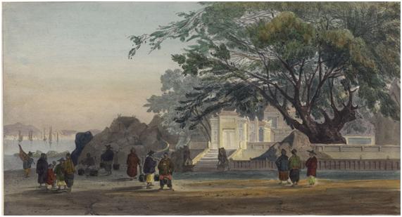 Pagode Chinoise a Macau 1845 LAUVERGNE