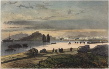 Vue de Macau 1845 LAUVERGNE