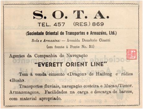 ANÚNCIO SOTA 1951