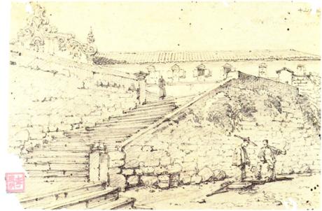 Chinnery Escadas de Sto Agostinho 1829