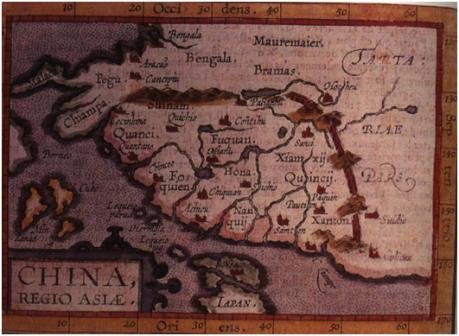 MAPA - China Regio Asiae 1589