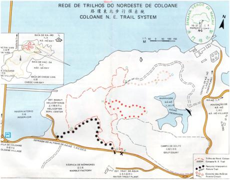 PANFLETO MAPA Rede de Trilhos COLOANE