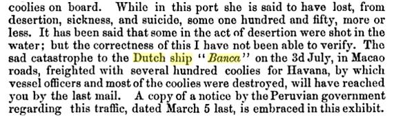 3-08-1856 Incêndio do BANCA carta de Peter Paker