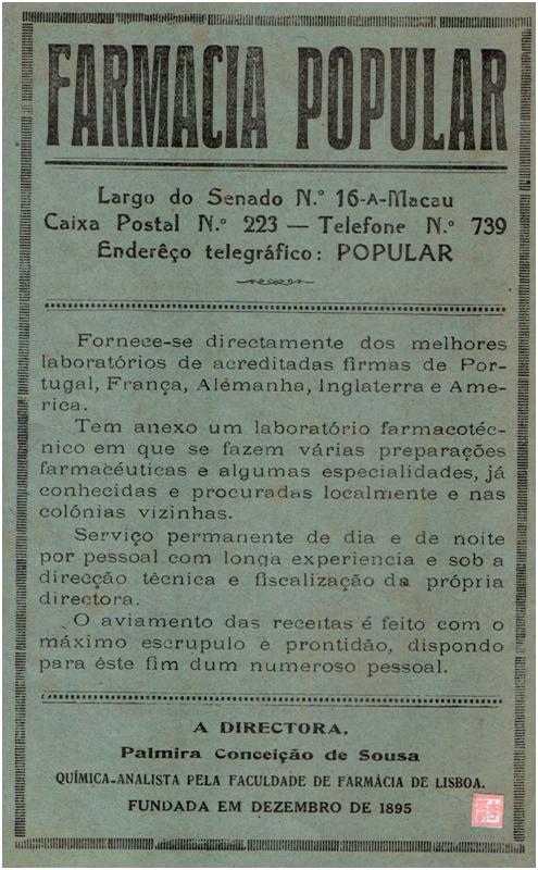 AnÚNCIO Famarmácia Popular 1938
