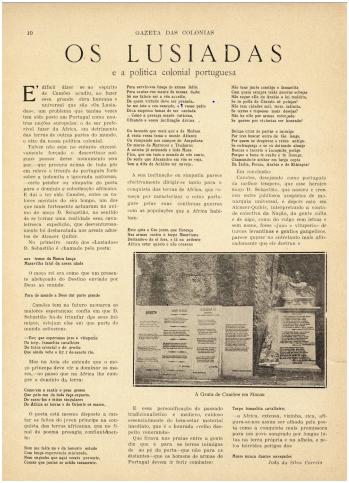 GAZETA COLÓNIAS ! 19-06-1924 OS LUSÍADAS