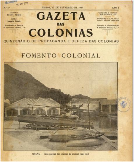 GAZETA COLÓNIAS I-19 12-02-1925 - Fomento Colonial