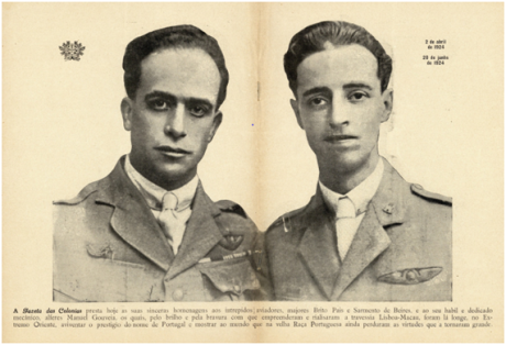 GAZETA COLÓNIAS I-2 10-07-1924 Raid Lisboa-Macau II