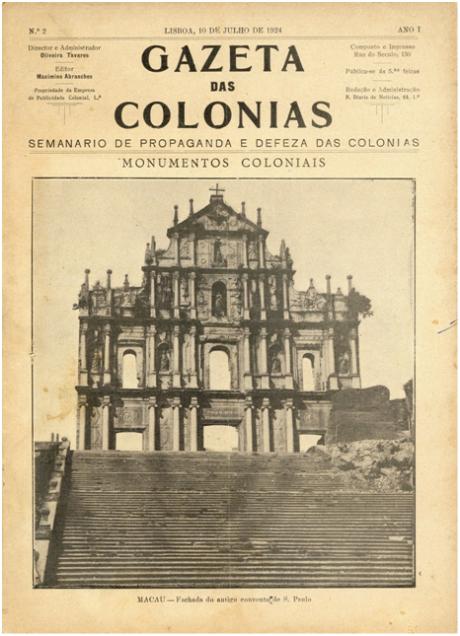 GAZETA COLÓNIAS I-2 10-07-1924 RUÍNA S. PAULO