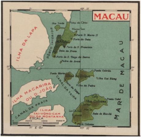 Mapa de Macau 1934