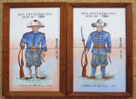 AZULEJOS 1984 Soldados de Infantaria