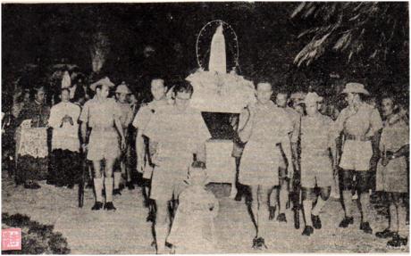 MACAU B. I. Ano II n.º 29 15OUT1954 Procissão de velas Mong Há II