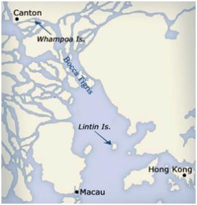 Mapa Bocca Tigris Ilha Lintin