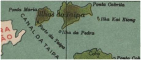 Pormenor Macau Taipa Ponta Cabrita 1934