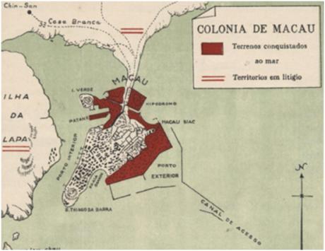 Pormenor Mapa Macau Siac 1929