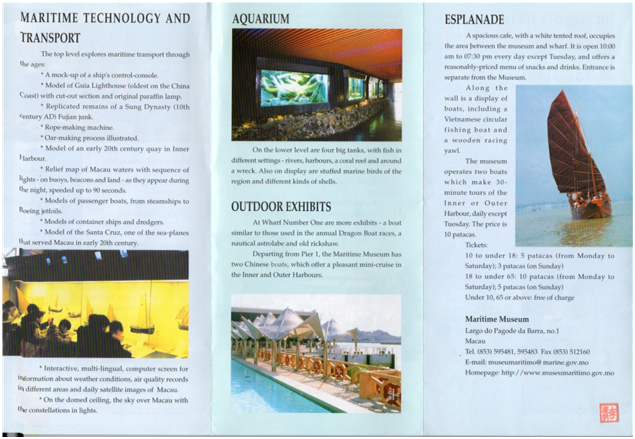 FOLHETO DST 2002 Maritime Museum 2.ª página