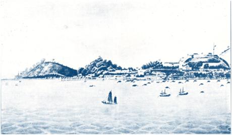 Ta-Ssi Yang-Kuo Vista do Porto Interior antes de 1847