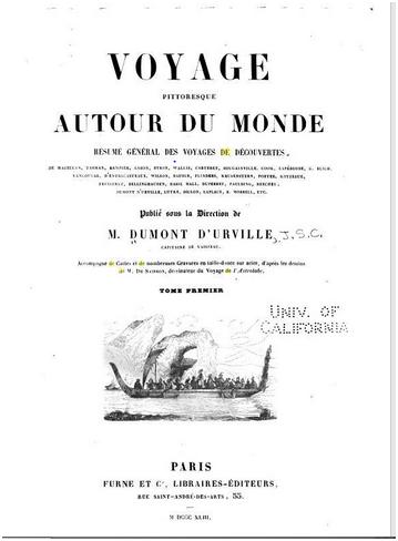 Voyage Pittoresque Autour du Monde 1842 CAPA