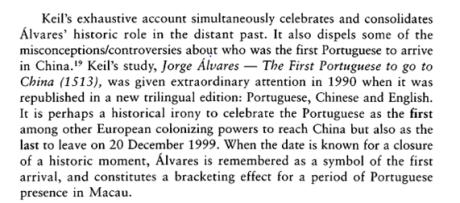 MACAU a Cultural Janus p. 18 II