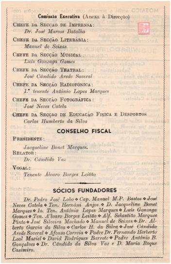 MOSAICO I-1, 1950 Corpos Gerentes de 1950 (II)