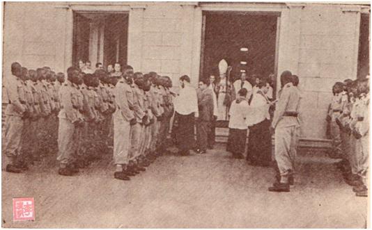 MOSAICO III-17-18 1952 -Baptismo dos Praças Africanos I