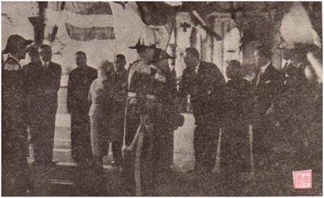 MOSAICO III-17-18 1952 - Visita do Governador a HK II