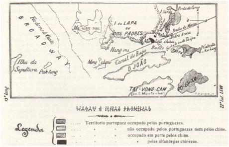 Ta-Ssi Yang-Kuo MAPA Macau e ilhas próximas 1889