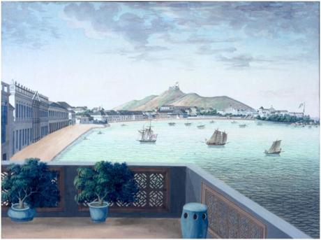 1840Macau vista de Praia Grande Museu Peabody