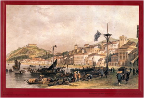 19th Century Macau Prints - Praia Grande THOMAS ALLOM