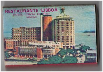 CAIXA DE FÓSFOROS - RESTAURANTE LISBOA II