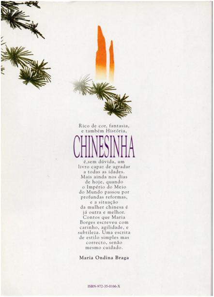 CHINESINHA - 2.ª edição, 1995 contracapa