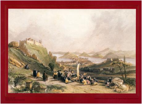 Auguste Borget 1835 Macau visto do forte de Heung Shan