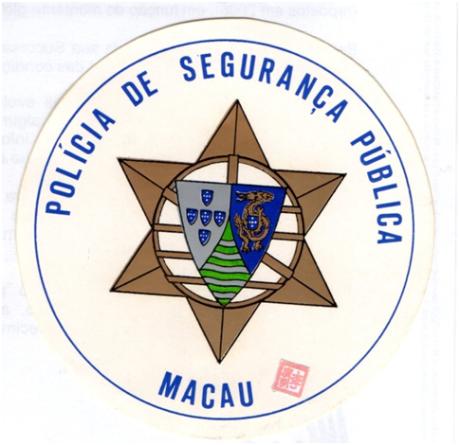 AUTOCOLANTE - POLÍCIA DE SEGURANÇA PÚBLICA DE MACAU