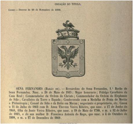 Bernardino Senna Fernandes Brasão I